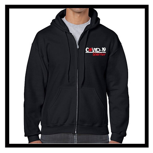 Gildan zipped COVID-19 Warrior/Survivor/or Long-Hauler hoodie S, M, L, XL
