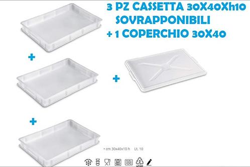 Kit professional cassette porta pizza sovrapponibili 3+1