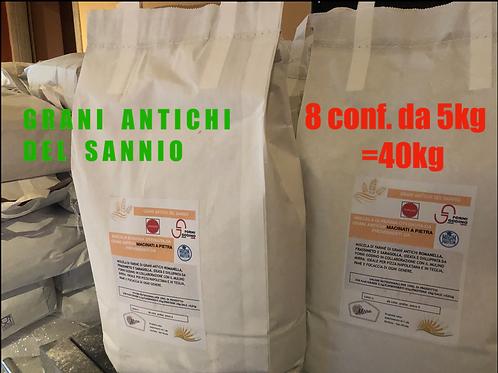 """MULTIPACK """"Grani del Sannio""""40kg *GRANI ANTICHI*"""