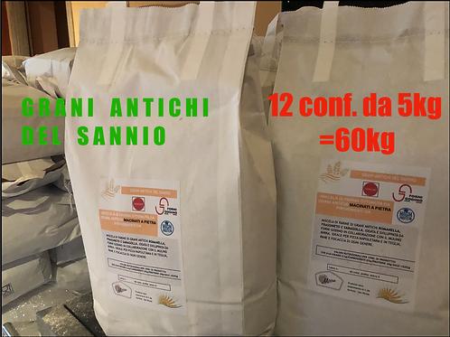 """MULTIPACK """"Grani del Sannio""""60kg *GRANI ANTICHI*"""