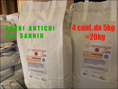 """MULTIPACK """"Grani del Sannio""""20kg *GRANI ANTICHI*"""
