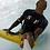 Thumbnail: SurF ( White - red outline )  Rash Guard Short Sleeve Adult