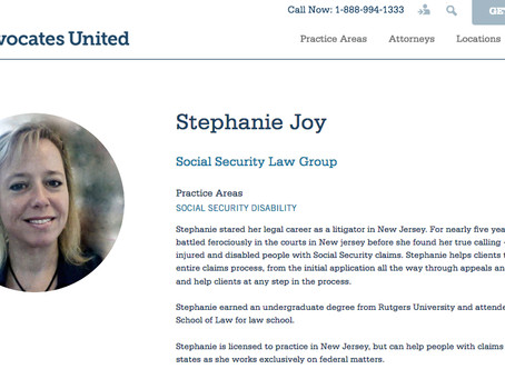 Joy Disability, Yes! But SO much more!  Please Say Hello to My New Law Firm, as Member, with Advocat