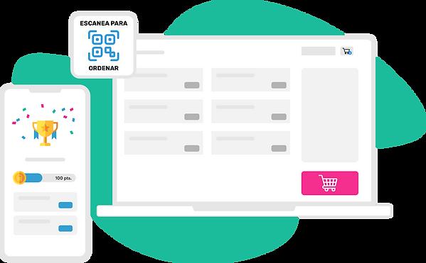 Digitaliza tu negocio con una tienda online gratuita, menú digital QR y plataforma de loyalty