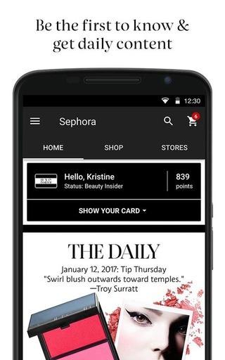 Loyalty app de Sephora
