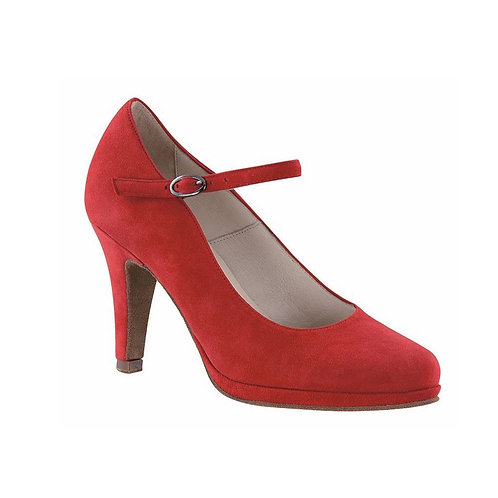 Verona | Fire Red Suede Leather