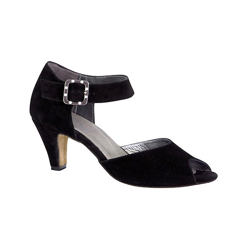 Monaco | Black Suede Leather