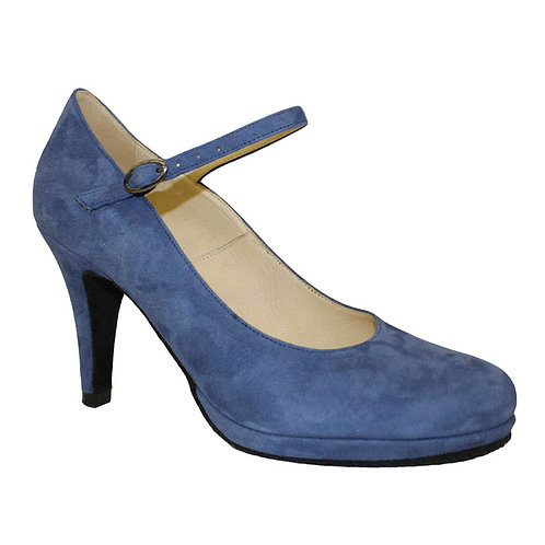 Verona | Blue Suede Leather