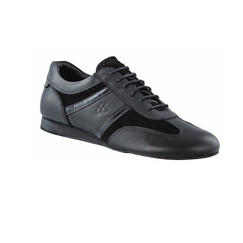 Dance Sneaker | Black Leather