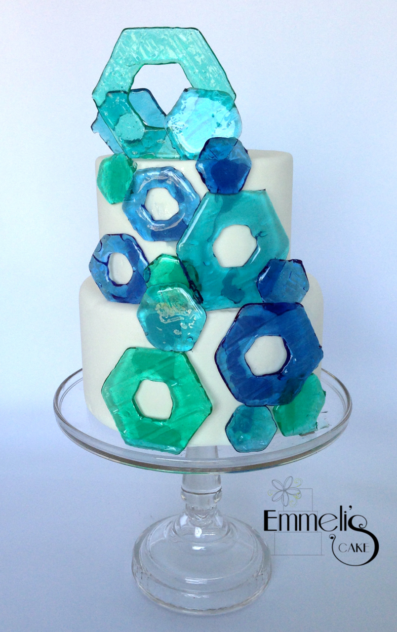 Sugar Glass Hexagons