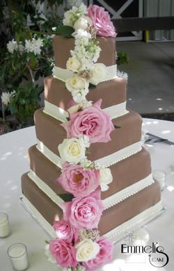 Chocolate Square Rose Cascade