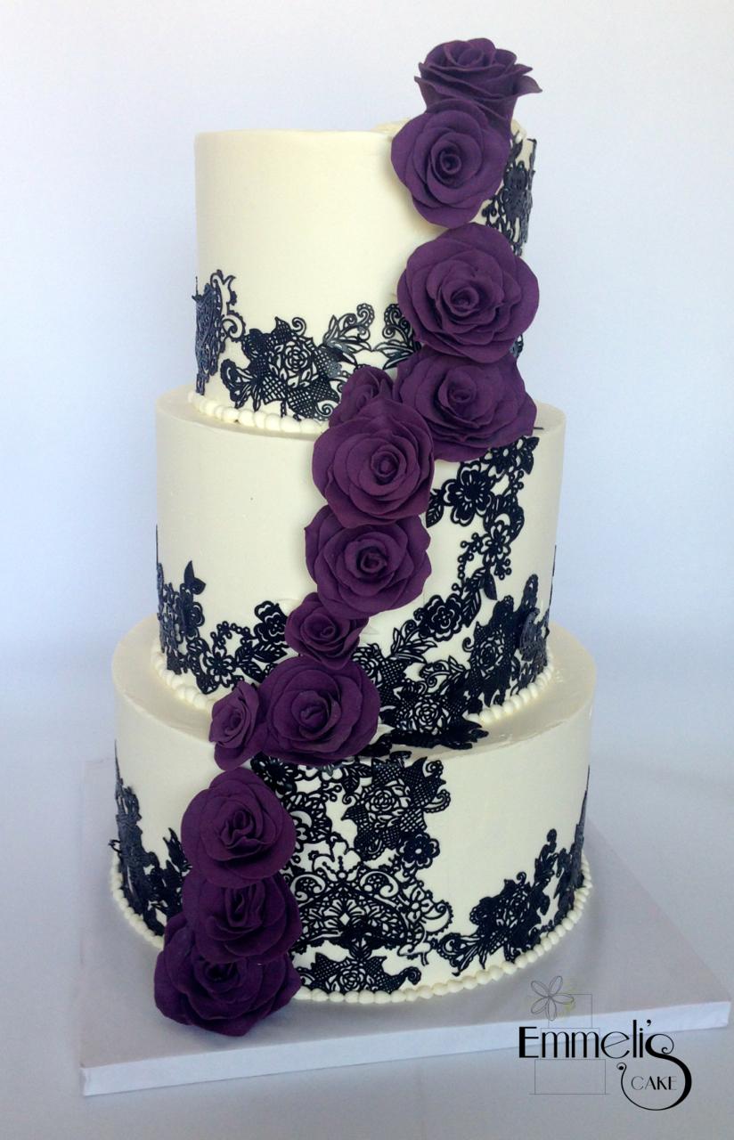 Eggplant Roses