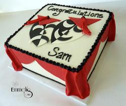 Theater Buff's Graduation Cake W