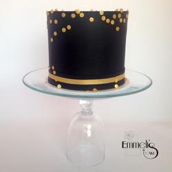 Gold Confetti on Black