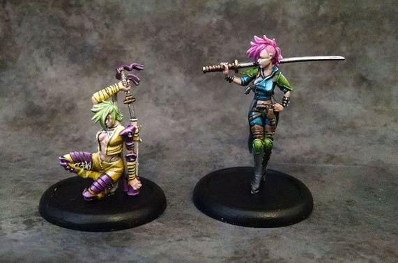 Some Malifaux Punky Ladies painted by Brian.