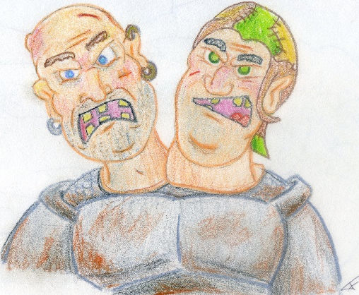 Two headed Ogre, by Brian.