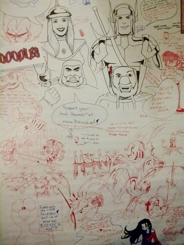 A doodle wall.