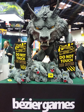 Hudson loves werewolves!  This guy was pretty cool.