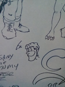 Doodle wall pic.  Brian doddled a little himself.