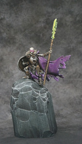 Brian rebased and entered his Warden into a Warhammer paint competition.