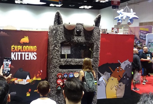 Exploding Kittens!  Their marketing was brilliant this year.  Interactive puking cat booth.