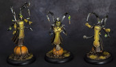 Brian's 2015 Warmachine Weekend Entry The Cephalyx Overlords.  Painted by Brian.  Brian got  Gold and also was awarded the best unit.