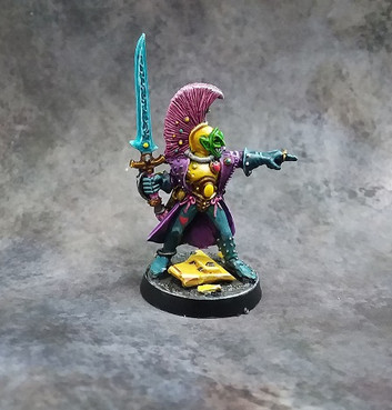 Space clown!  I mean, 40K Harlequin painted by Brian.
