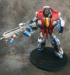Starscream themed Infinity model Brian painted.