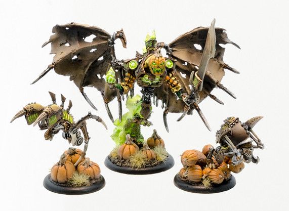 Brian's Gen Con 2015 P3 Paint Competition entry for the Battlegroup category.  Brian received a Bronze for this entry and they were displayed in a No Quarter Magazine as well as a Cryx Forces of Warmachine book. Terminus is fully modifed using only P3 parts and Brian sculpted the head out of green stuff.