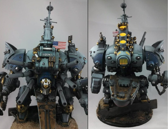 """The """"Big MO"""".  Brian modified and painted this up for a Navy Verteran."""