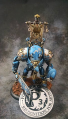 Brian recieved a recognition coin for his entry.  Privateer Press did not like the pinup attempt on this piece.