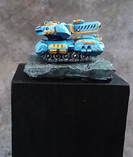 Brian speed painted this G Tank for fun for the Gen Con 2019 P3 paint competition.  This guy didn't place.