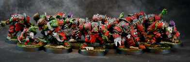 Brian's Bloodbowl Team.  Painted by Brian.