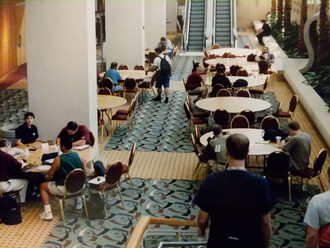 Gaming in the halls.  That is Gen Con.