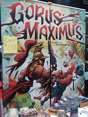 Gorus Maximus Card Game.   Dig the style of this art.