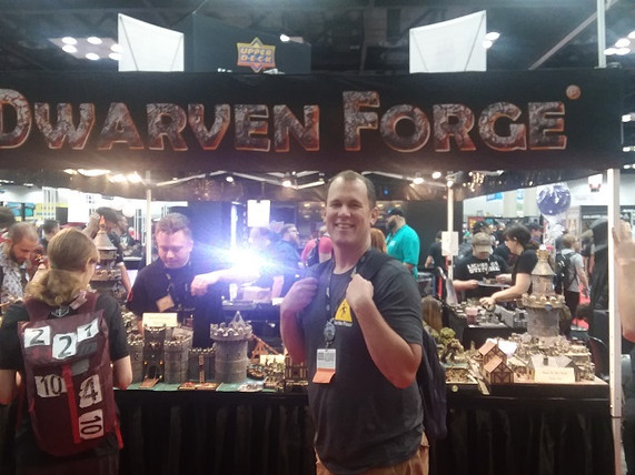Brian is in their documentary on Netflix.  He is in the background hanging out in the Gen Con auction.  One of his favorite things about Gen Con.