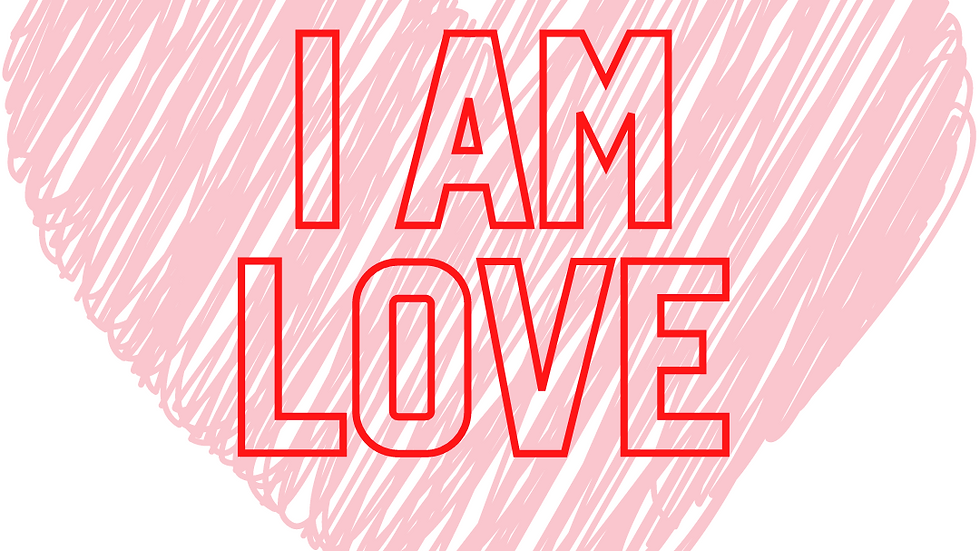 I am LOVE coloring page