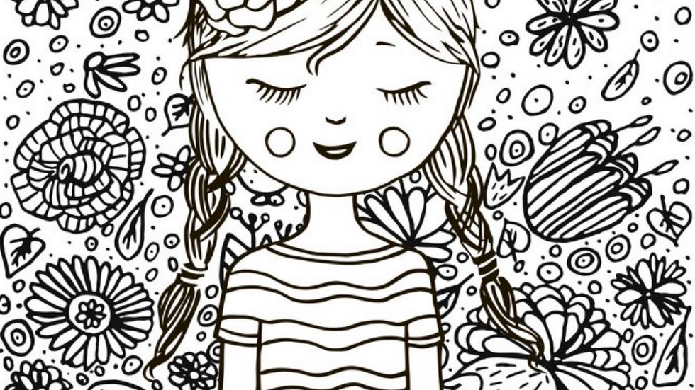I can do hard things (female) coloring page