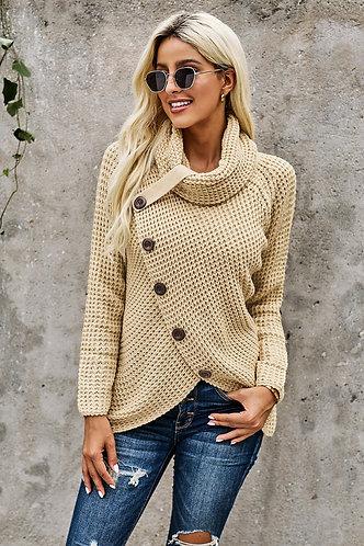 Wrap Turtleneck Sweater