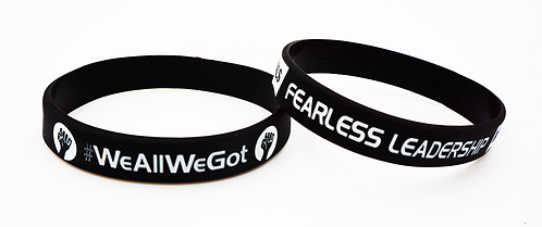 #WeAllWeGot Wristbands 2Pack