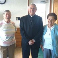 BISHOP GAINER with our founders Betty Girven & LeonaFrances Woskowiak