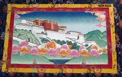 Mural del museo Nacional de Kalmykia