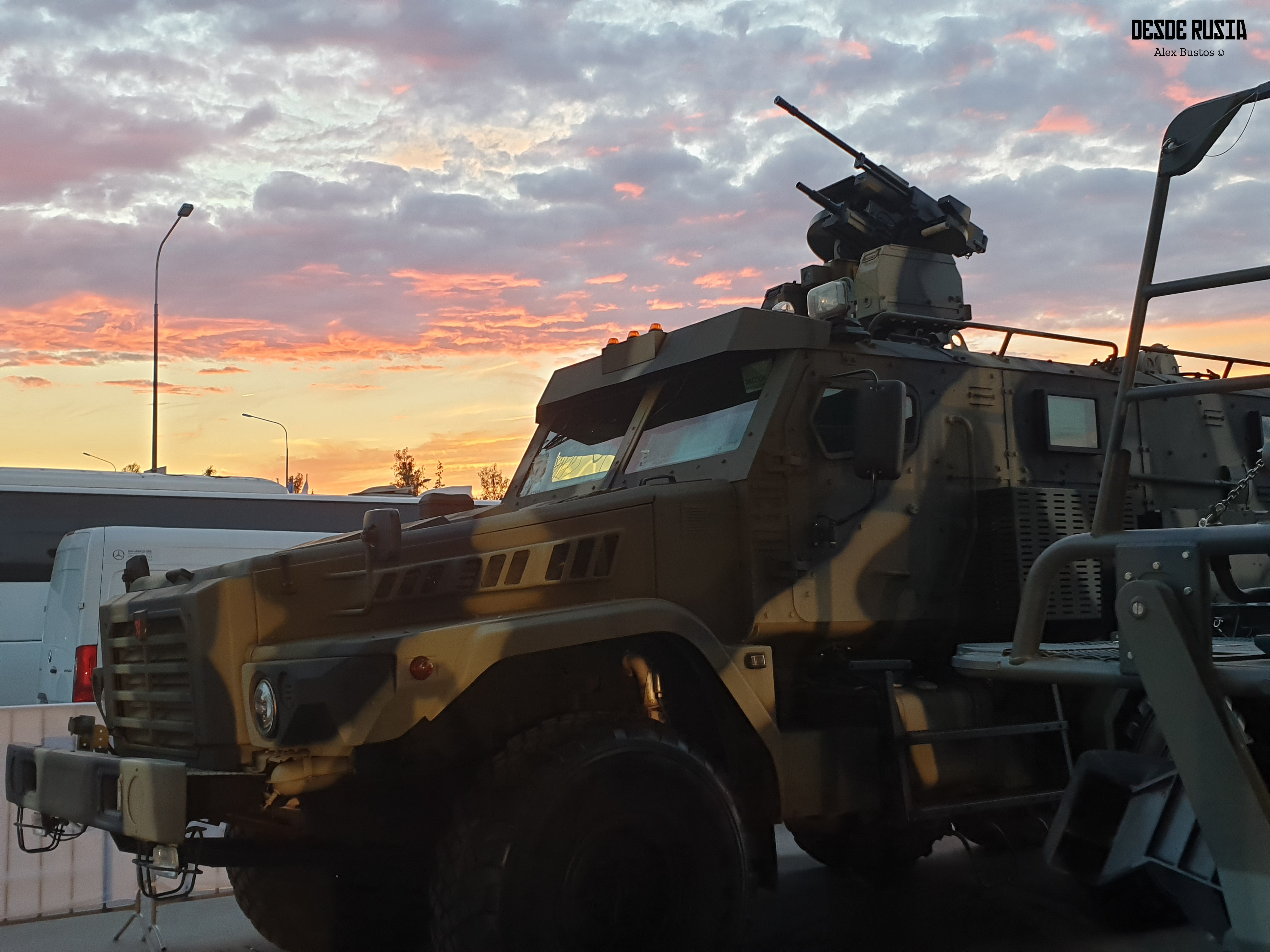Vehículo blindado en Armiya