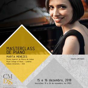 Masterclass de Piano, com Marta Menezes