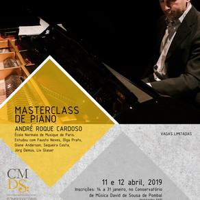 Masterclass de Piano, com André Roque Cardoso