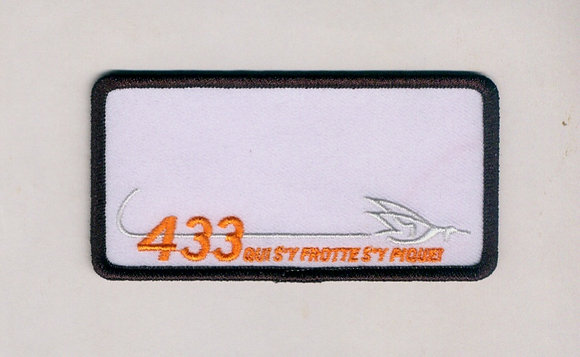 433 Sqn Name Patch