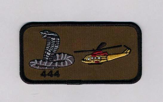 444 Squadron rectangular patch