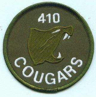 410 Cougars Squadron Crest