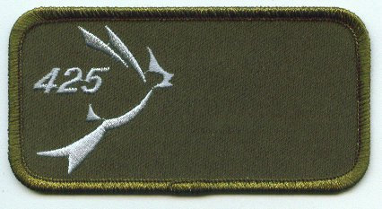 425 Squadron Name Patch - Rounded Corners