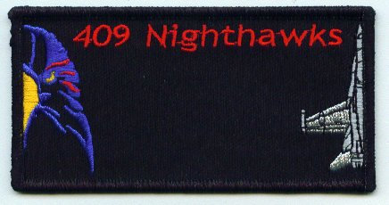 409 Nighthawks Name Patch